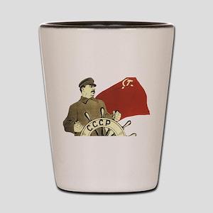 stalin communist soviet propaganda Shot Glass