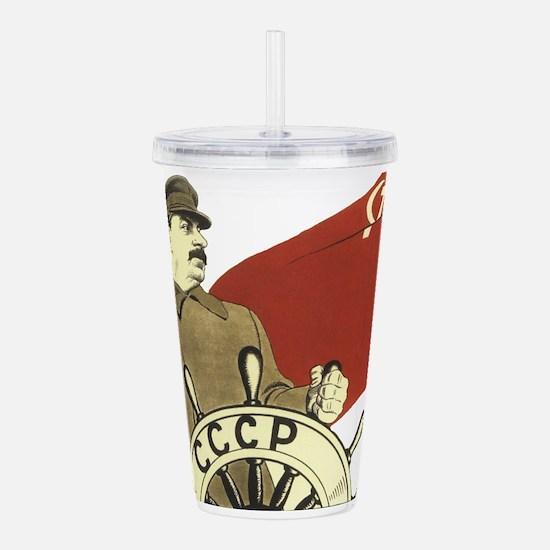 stalin communist sovie Acrylic Double-wall Tumbler