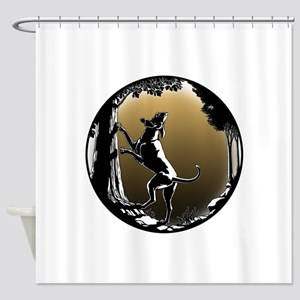 Hound Dog Art Hunting Dog Shower Curtain