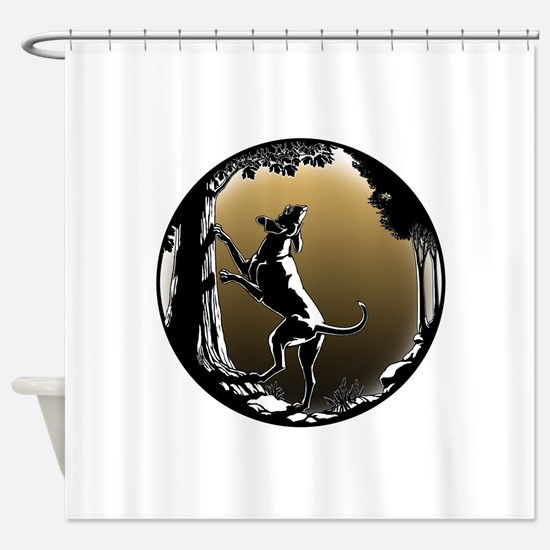 Hound Dog Art Hunting Dog Shower Curtain