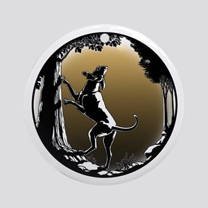 Hound Dog Art Hunting Dog Round Ornament