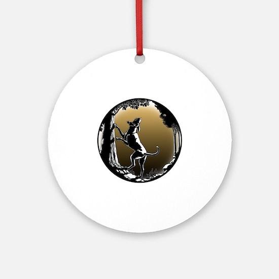 Hound Dog Art Hunting Dog Round Ornament