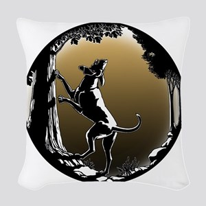 Hound Dog Art Hunting Dog Woven Throw Pillow