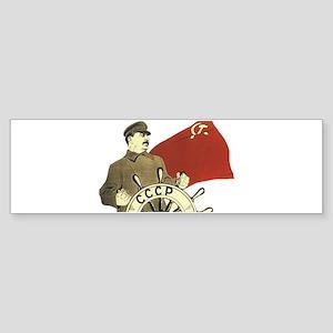 stalin communist soviet propaganda Bumper Sticker