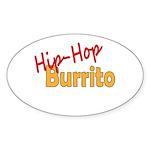 Hip-Hop Burrito Sticker (Oval 50 pk)