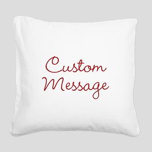Simple Large Custom Script Message Square Canvas P