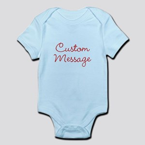 Simple Large Custom Script Message Body Suit