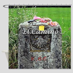 El Camino: marker 86 kilometres, Sp Shower Curtain