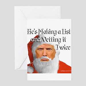 Trump Santa Greeting Cards