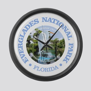 Everglades NP Large Wall Clock
