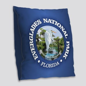 Everglades NP Burlap Throw Pillow