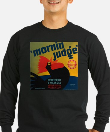 Vintage Rooster Advertisement Long Sleeve T-Shirt