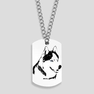 Husky Malamute Sled Dog Dog Tags