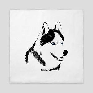 Husky Malamute Sled Dog Queen Duvet