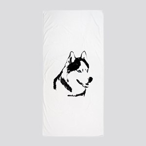 Husky Malamute Sled Dog Beach Towel