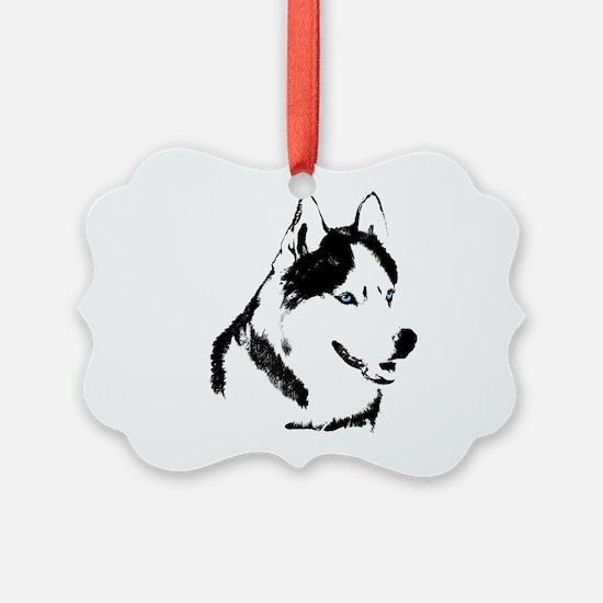 Husky Malamute Sled Dog Ornament