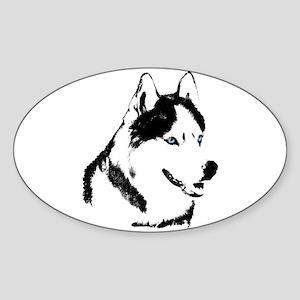 Husky Malamute Sled Dog Art Sticker