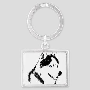 Husky Malamute Sled Dog Ar Keychains