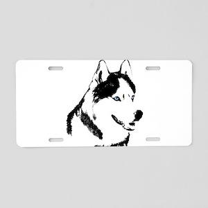 Husky Malamute Sled Dog Aluminum License Plate