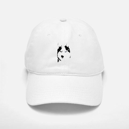 Husky Bi-Eye Husky Dog Baseball Baseball Cap