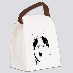 Husky Bi-Eye Husky Dog Canvas Lunch Bag
