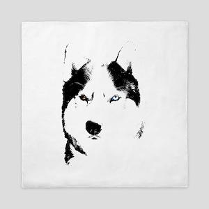 Husky Bi-Eye Husky Dog Queen Duvet