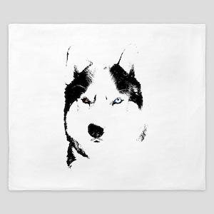 Husky Bi-Eye Husky Dog King Duvet