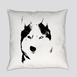 Husky Bi-Eye Husky Dog Everyday Pillow