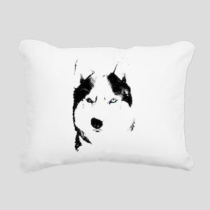 Husky Bi-Eye Husky Dog Rectangular Canvas Pillow