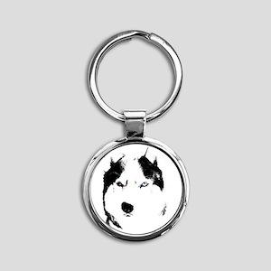 Husky Gifts Bi-Eye Husky S Keychains