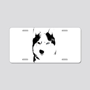 Husky Bi-Eye Husky Dog Aluminum License Plate