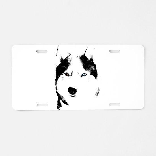 Husky Bi-Eye Husky Dog Aluminum License Plate