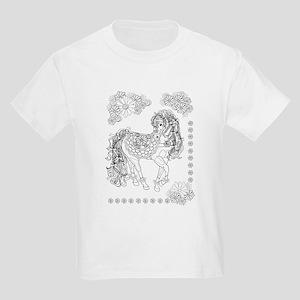 Prancing Daisy Horse Design Kid's T-Shirt