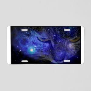 Intergalactic Feline Aluminum License Plate