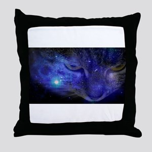 Intergalactic Feline Throw Pillow