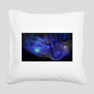 Intergalactic Feline Square Canvas Pillow