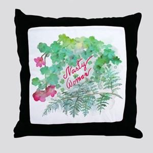 Nasty Woman Throw Pillow