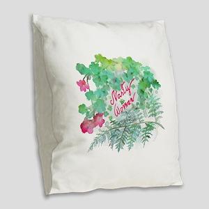 Nasty Woman Burlap Throw Pillow