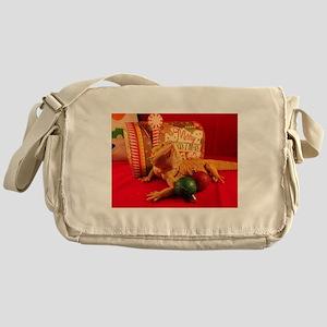 Christmas Lizard Messenger Bag