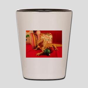 Christmas Lizard Shot Glass