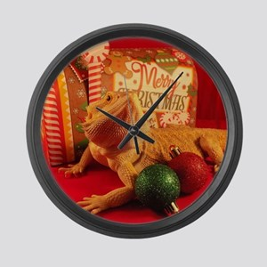 Christmas Lizard Large Wall Clock