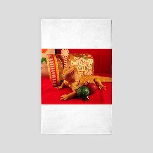 Christmas Lizard Area Rug