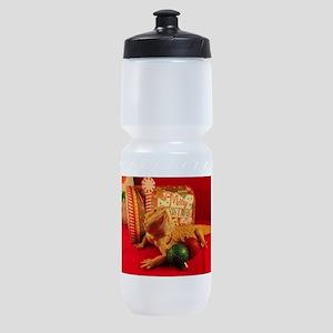 Christmas Lizard Sports Bottle