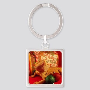 Christmas Lizard Keychains