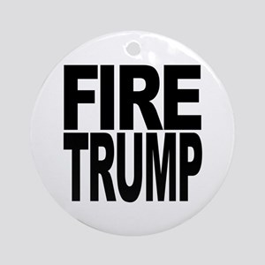 Fire Trump Round Ornament