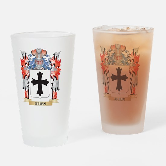 Julien Coat of Arms - Family Crest Drinking Glass