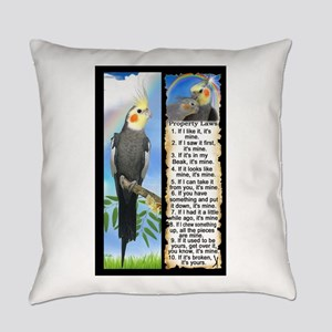The Cockatiel Everyday Pillow