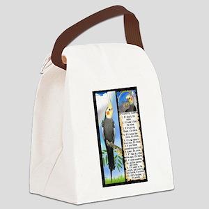 The Cockatiel Canvas Lunch Bag