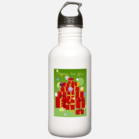 Pink triangle Water Bottle