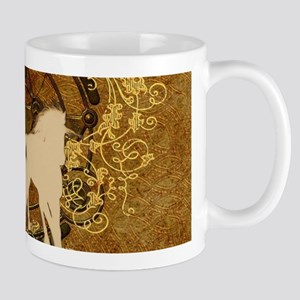 Running horses with wonderful floral elements Mugs